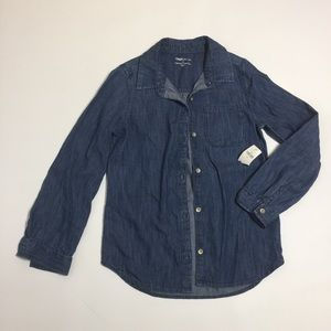 GapKids boy's jean button down shirt